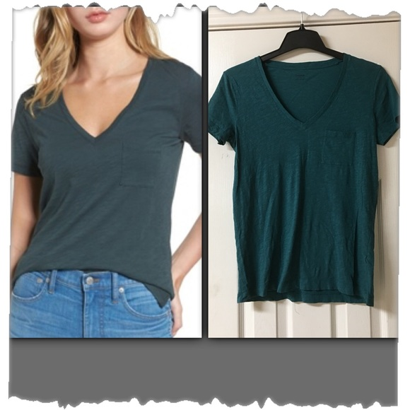 af65df3083db8e Madewell Tops - Madewell Whisper Thin V-Neck Pocket Tee